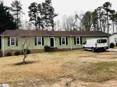 Simpsonville Single Family Home Contingency Contract: 210 Chickamaugua