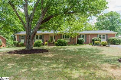 Taylors Single Family Home For Sale: 102 Dexter