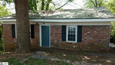 Greenville Single Family Home For Sale: 36 Bagwell