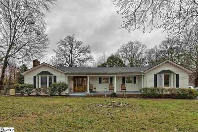 Greenville Single Family Home For Sale: 600 State Park