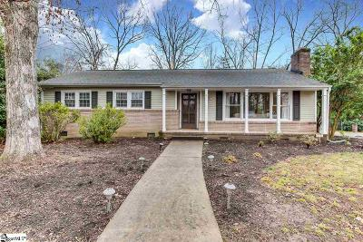 Greenville Single Family Home Contingency Contract: 221 Yorkshire