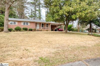 Spartanburg Single Family Home Contingency Contract: 200 Maxine