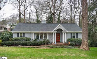 Greenville Single Family Home Contingency Contract: 17 E Lanneau