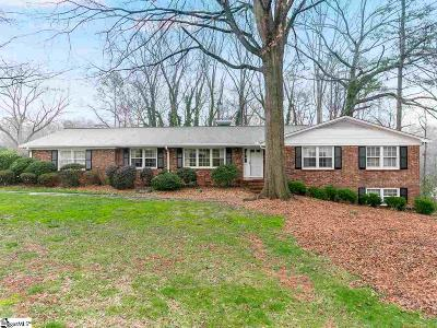 Spartanburg Single Family Home For Sale: 292 Lake Forest