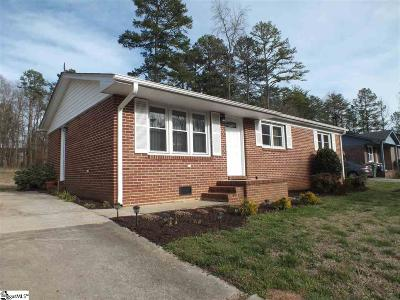 Fountain Inn Single Family Home Contingency Contract: 214 Brooklawn