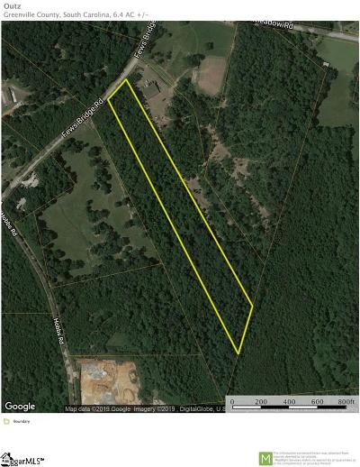 Taylors Residential Lots & Land For Sale: Fews Bridge