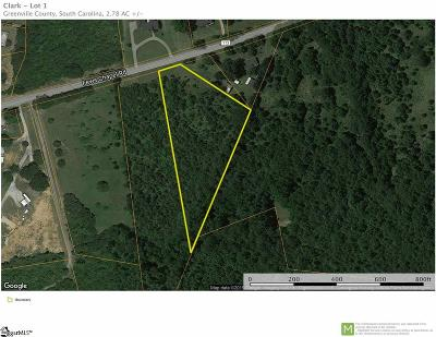 Greer Residential Lots & Land For Sale: Fews Chapel