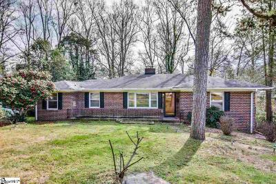 Greenville Single Family Home Contingency Contract: 137 Scarlett