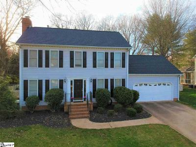 Simpsonville Single Family Home For Sale: 206 Spring Lake