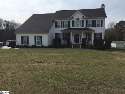Pelzer Single Family Home For Sale: 409 Saddlebred