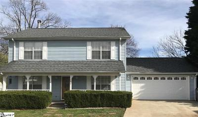 Greenville Single Family Home Contingency Contract: 106 Ridgeside