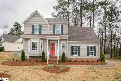Simpsonville Single Family Home Contingency Contract: 2 S Birkenstock