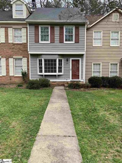 Spartanburg Condo/Townhouse For Sale: 129 Inwood