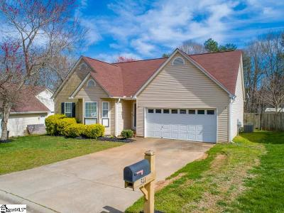 Simpsonville Single Family Home Contingency Contract: 311 S Sandy Brook
