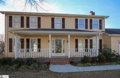 Simpsonville Single Family Home Contingency Contract: 209 Kincade