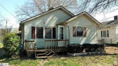Anderson SC Single Family Home For Sale: $40,000