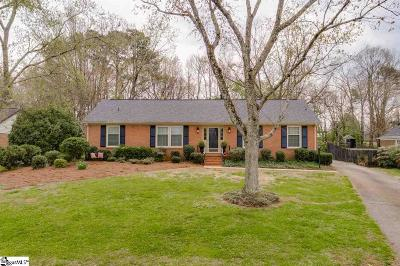 Greenville County Single Family Home Contingency Contract: 4954 Vineyard