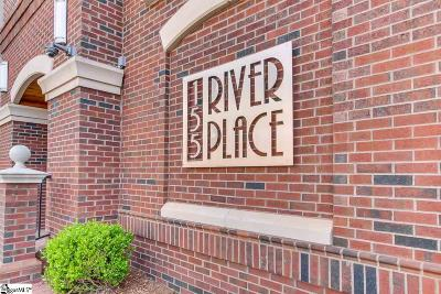 Greenville County Condo/Townhouse For Sale: 155 Riverplace #206