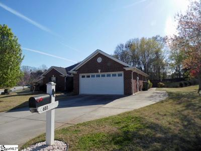 Greer Single Family Home Contingency Contract: 603 Ashley Commons