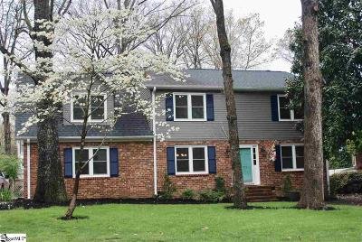 Greer Single Family Home Contingency Contract: 109 Bayberry
