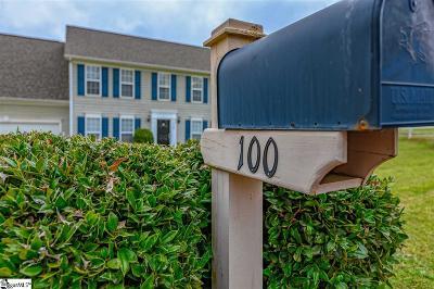 Easley Single Family Home For Sale: 100 Hornbuckle
