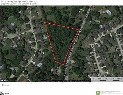 Greer Residential Lots & Land For Sale: 1010 Boiling Springs