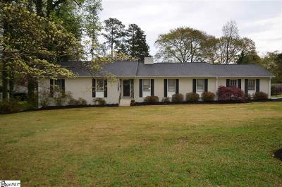 Spartanburg Single Family Home Contingency Contract: 707 Fernwood