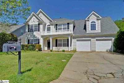 Simpsonville Single Family Home For Sale: 407 Woodruff Lake