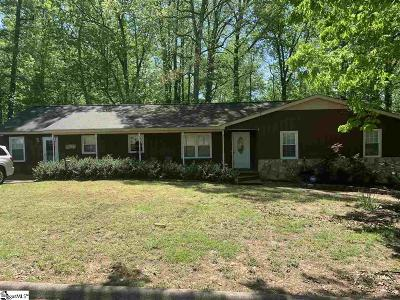 Simpsonville Single Family Home For Sale: 1306 Brentwood