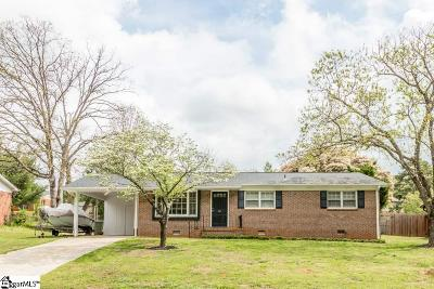 Greenville County Single Family Home For Sale: 111 Shadecrest