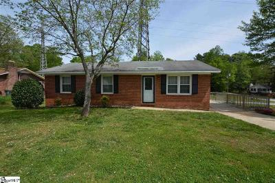 Greer Single Family Home For Sale: 129 Circle