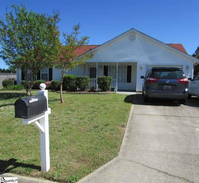 Fountain Inn Single Family Home Contingency Contract: 205 Dexter Bend