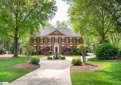 Greenville SC Single Family Home For Sale: $749,900