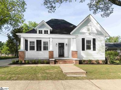 Greenville Single Family Home For Sale: 213 Asbury