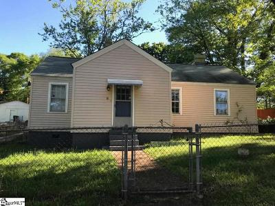 Taylors Single Family Home For Sale: 8 South