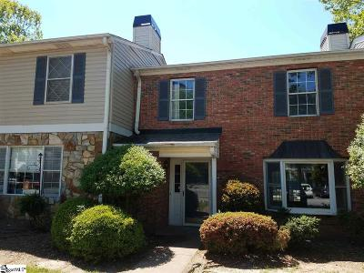 Greenville County Condo/Townhouse For Sale: 110 Shadytree