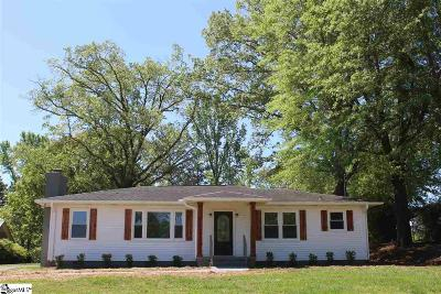 Travelers Rest Single Family Home Contingency Contract: 340 Tigerville