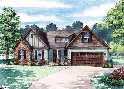 Greer Single Family Home For Sale: 106 Ridgefield #Lot 6