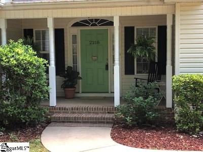 Travelers Rest Single Family Home For Sale: 2218 Tigerville