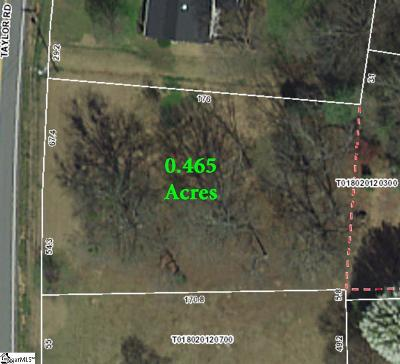 Greer Residential Lots & Land For Sale: 911 Taylor
