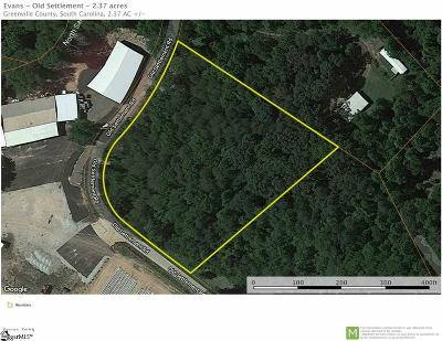 Travelers Rest Residential Lots & Land For Sale: Old Settlement