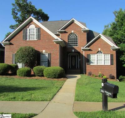 Simpsonville Single Family Home Contingency Contract: 106 Nottinghill