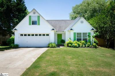 Easley Single Family Home For Sale: 217 Canvasback