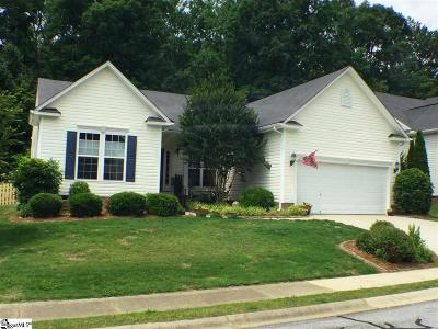 Simpsonville Single Family Home For Sale: 384 Amberleaf