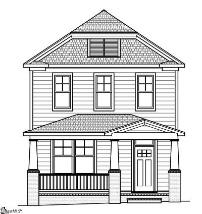 Greenville Single Family Home For Sale: Old Buncombe #Lot 24
