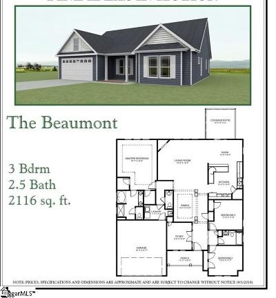 Travelers Rest Single Family Home For Sale: 4 Upcountry #Lot 1