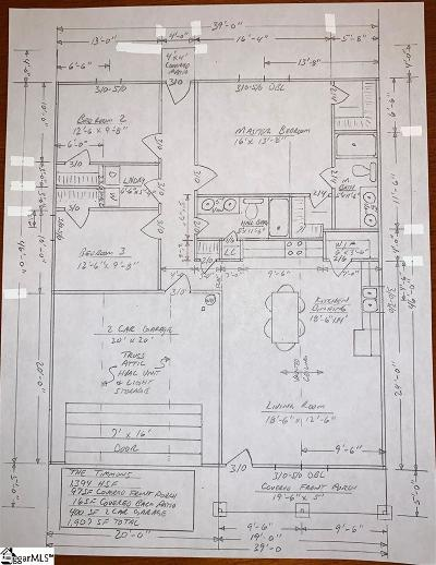 Fountain Inn Single Family Home Contingency Contract: 113 Shaw
