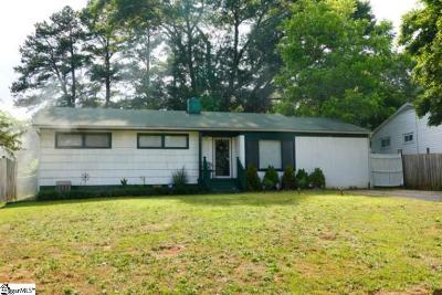 Greenville County Single Family Home For Sale: 208 Morningside