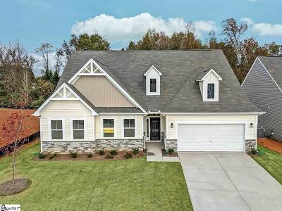 Woodruff Single Family Home For Sale: 115 Noble Creek #Lot 32