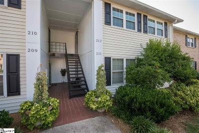 Greenville Condo/Townhouse For Sale: 925 Cleveland #Unit 212